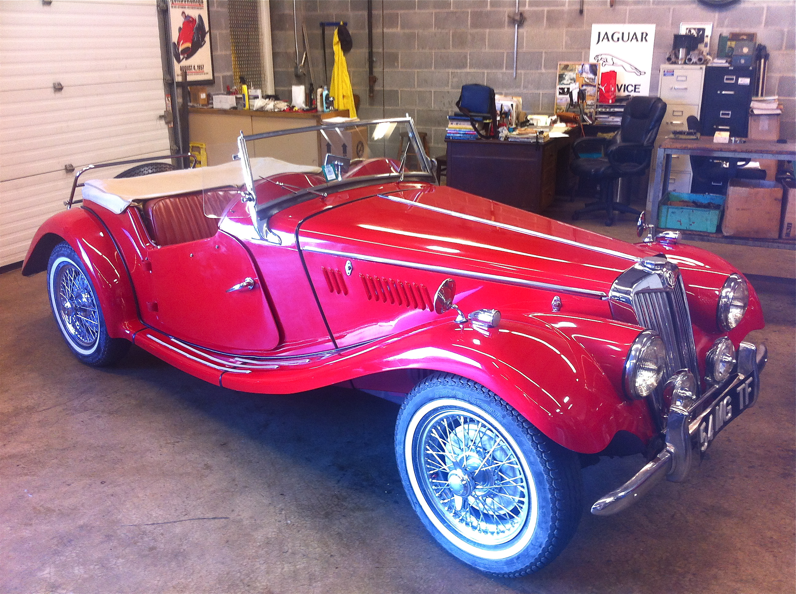 New Arrival 1954 MG TF FOR SALE – SOLD | Raspis British Imports